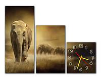 Часы на стену модульные m 62 (30х70 30х50 30х32)