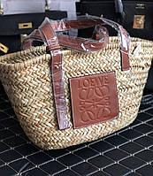 Соломенная женская сумочка LOEWER (реплика), фото 1