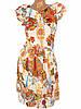 Цветочное шифоновое платье миди 42р, фото 3