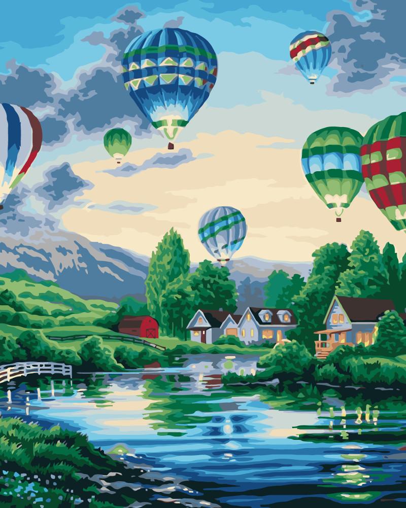 Картина по номерам - Воздушные шары 2