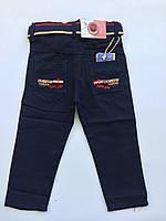 Цветные брюки-джинсы на мальчика на 3-4 года весна синий, фото 1