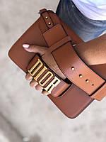 Стильная женская сумочка Dior EVOLUTION коричневая (реплика), фото 1