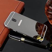 Зеркальный Чехол/Бампер для Samsung Galaxy J3 2017 / J330, Чёрный (Металлический)