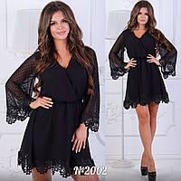 Платье летнее Ткань:креп-шифон (по низом трикотажная подкладка) много расцветок супер качество ац №2002