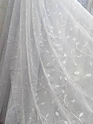 Тюль  лен с вышивкой  A30 L