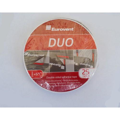 Двостороння стрічка Eurovent DUO 20мм × 25м (Двостороння стрічка)