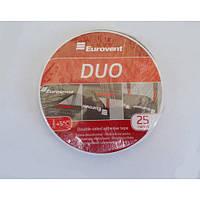 Двостороння стрічка Eurovent DUO 20мм × 25м (Двостороння стрічка), фото 1