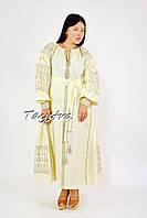 Бохо платье кантри вышиванка лен, вишите плаття вишиванка, вышиванка украинское платье вышитое