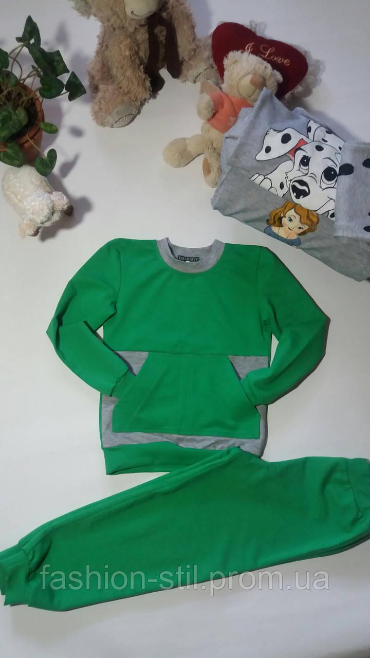 04e2c4b13a4a38 Костюм спортивний дитячий зелений унісекс та в інших кольорах 110-116