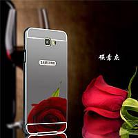 Зеркальный Чехол/Бампер для Samsung J5 Prime / G570, Чёрный (Металлический)