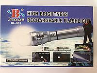Тактический фонарик BL 901 с магнитом