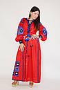 Вышиванка платье лен этно стиль кантри, вишите плаття вишиванка стиль Вита Кин, фото 6