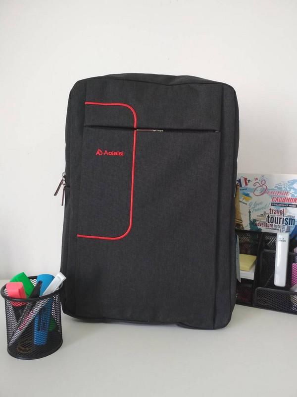 Черный школьный рюкзак для мальчика подростка 40*30*18 см