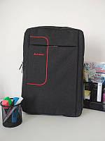 Черный школьный рюкзак для мальчика подростка 40*30*18 см, фото 1