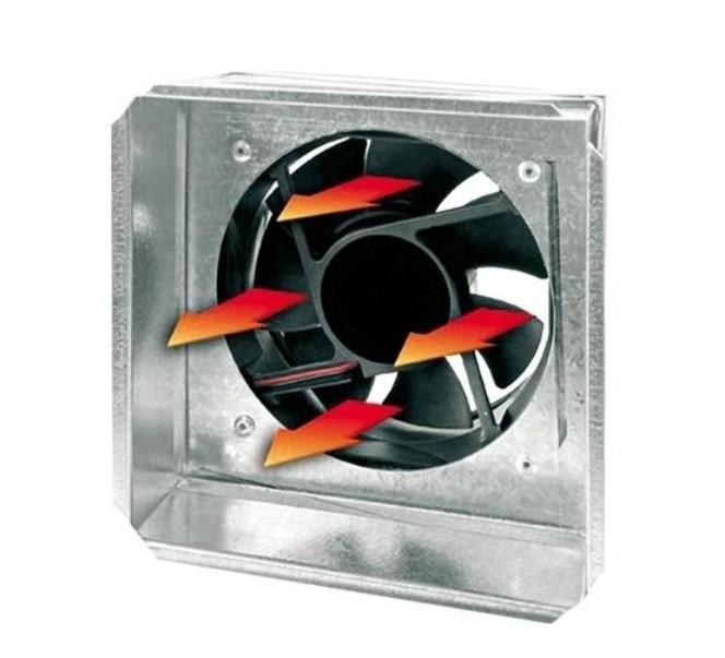 Выход под решетку с вентилятором Kratki 17х17 ф100 W
