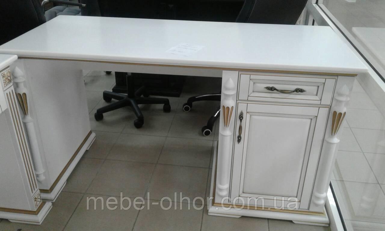 Письменный стол Неаполь из массива белый