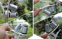 Микроскоп, увеличитель для смартфона с креплением на камеру, с подсветкой, для проверки купюр, фото 3