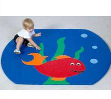 Детский мат-коврик для развития Рыбка
