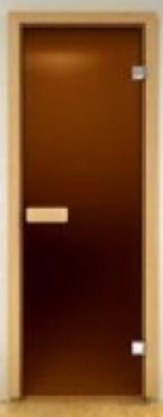 Стеклянная дверь для сауны Украина 80х190 бронза