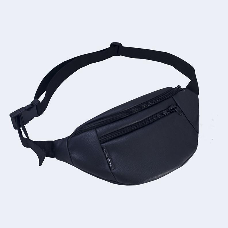 Поясная сумка Twins эко-кожа черная