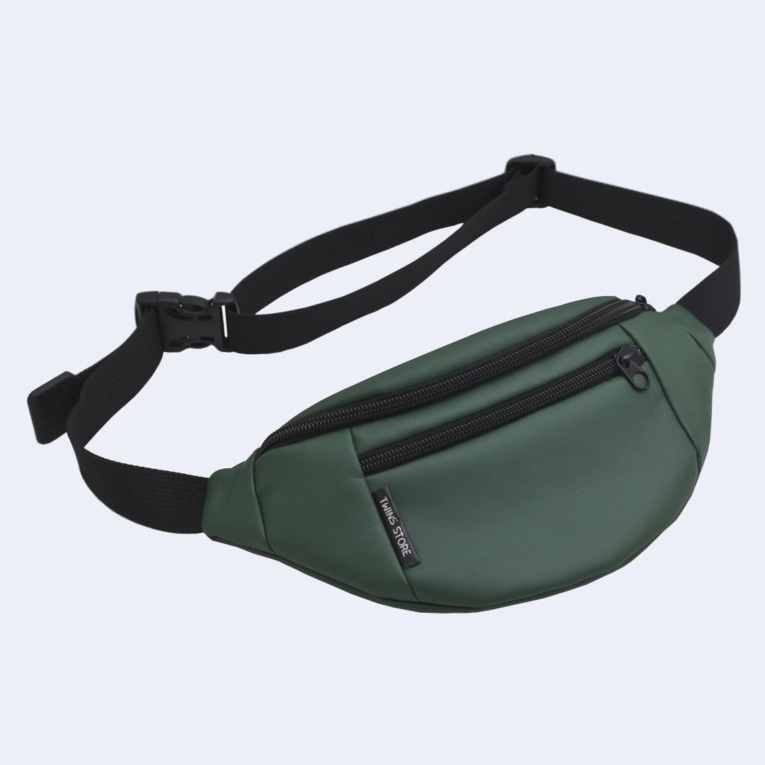 2ee798f93e68 Поясная сумка Twins эко-кожа зеленая - купить по лучшей цене в ...