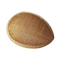 Основа Синамей для шляпки, вуалетки каплевидная Пшеничная 10.5x13.5 см