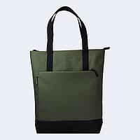 Зеленая  сумка шоппер