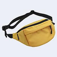 Поясная сумка Twins большая желтая, фото 1