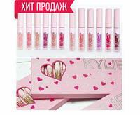 Набор помад Kylie (Кайли) Love 12в1, розовая коробка