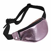 Поясная сумка Twins из эко-кожи розовая