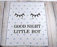 """Плед для новорожденного """"Good night"""", голубой, фото 1"""