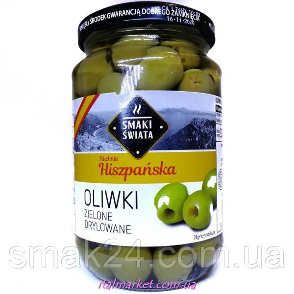 Оливки зелені без кісточки Hiszpanska Smaki Swiata 330 р