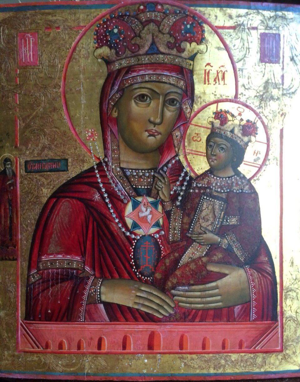 Икона Богородица Умягчение злых сердец 19 век