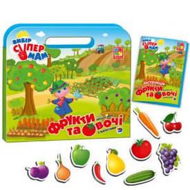 Игра Vladi Toys Простые игры с магнитами Фрукты и овощи (Укр) (VT3104-02)