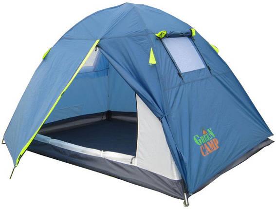 Палатка 2-х местная GreenCamp 1001B (210x200x135 см), фото 2