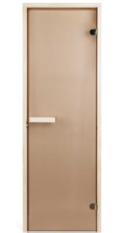 Стеклянная дверь для сауны Greus 70х200 бронза