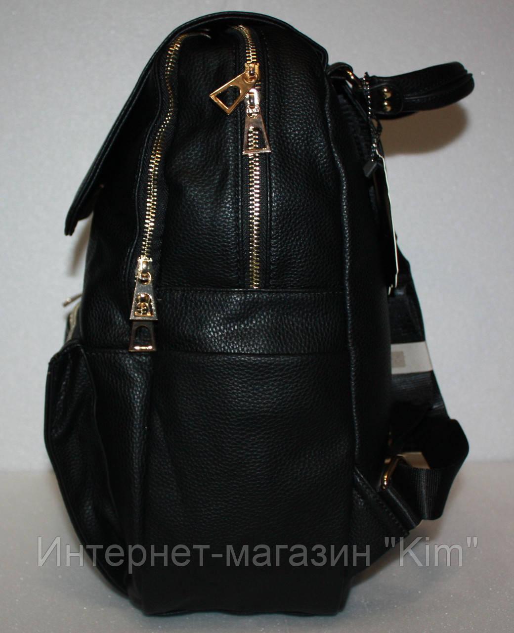 474d12128c87 Школьный рюкзак женский экокожа черный два отдела: продажа, цена в ...
