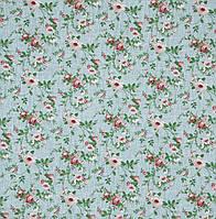 Ткань для штор Neus Розы мелкие цвет гранатовый 280 см