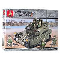 Конструктор Sluban  Танк 344 деталей М38-В0305