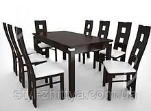 Стіл розкладний 2,1 м + 8 крісел