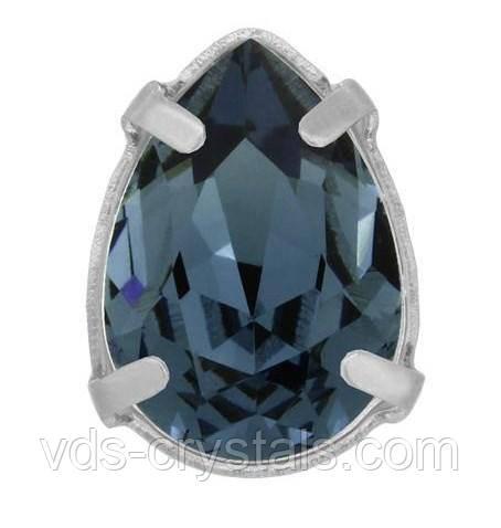 8370304ac32f3 Стразы Сваровски в серебряных цапах 4320 Denim Blue (266) 10х7мм - Стразы  Swarovski от