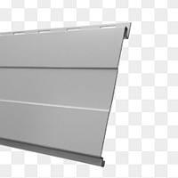 Сайдинг металлосайдинг доска бесшовная термастил 0,5 мм RAL 9006 Серебро Польша, фото 1