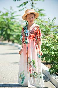 Пляжная Туника детская в расцветках размеров (207-104/1)
