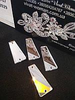 Пришивні дзеркала Crystal (Silver) P11 - 11х27мм. Ціна за 1 шт, фото 1