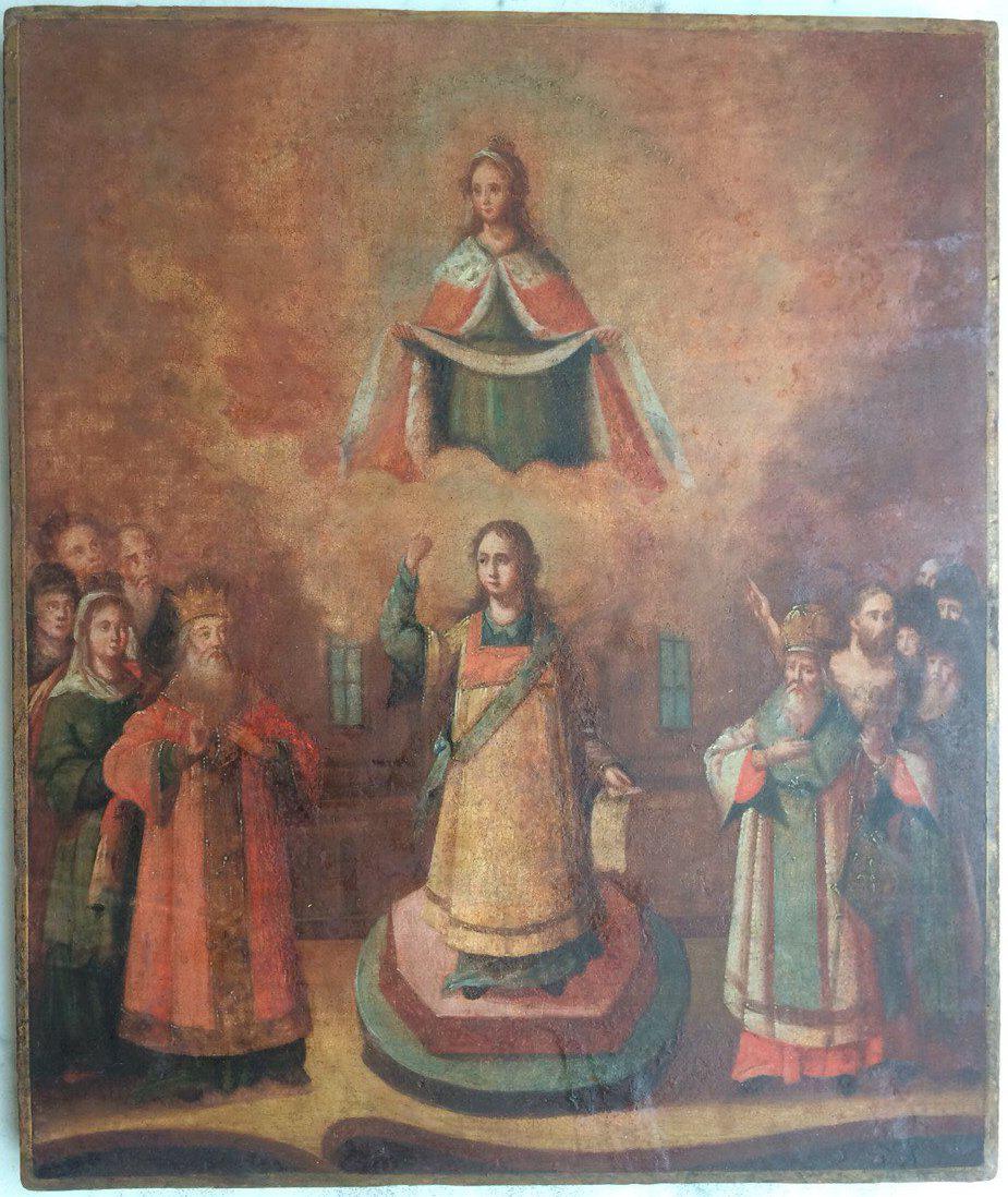 Икона Покрова Пресвятой Богородицы 18 век: продажа, цена в Киеве. иконы,  киоты от