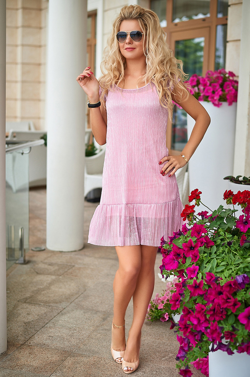 Летнее розовое Платье Аморет