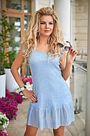 Летнее голубое Платье Аморет, фото 1