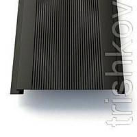 """Фасадные вертикальные металлические панели """" доска с микрорибером"""" Термастил 0.45 мм RAL 7024 мокрый асфальт"""