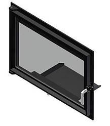 Двери для камина Kratki Oliwia/Wiktor (прямое стекло)
