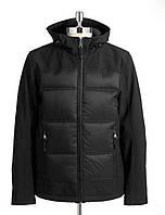 Черная мужская осенняя куртка с капюшоном GUESS